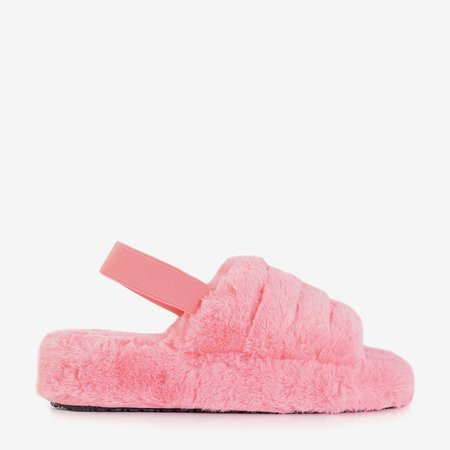 Рожеві жіночі тапочки з хутром Fornax - Взуття
