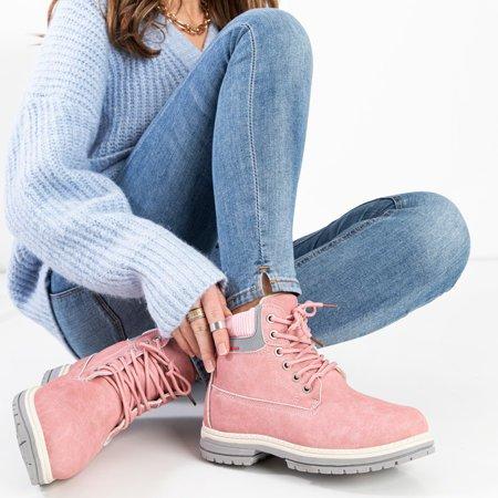 Рожеві жіночі утеплені черевики Triniti - Взуття