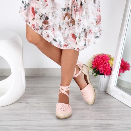 Różowe espadryle- Obuwie