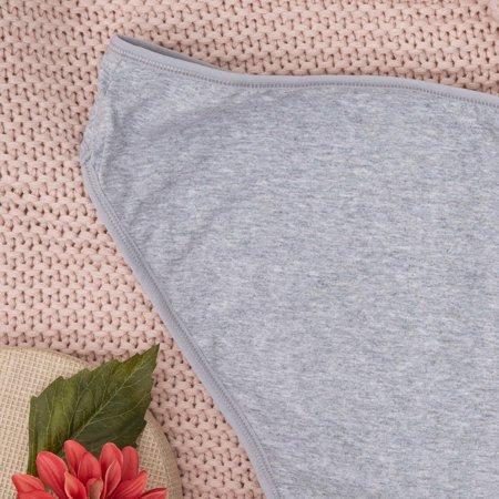 Сірі жіночі бавовняні трусики PLUS SIZE - Нижня білизна