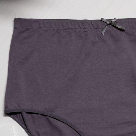 Темно-сірі жіночі бавовняні трусики PLUS SIZE - Нижня білизна