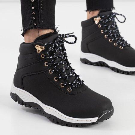Жіночі черевики-трапери з екошкіри у чорному кольорі Filisa - Взуття
