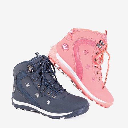 Жіночі коралові черевики зі сніжинками Flander - Взуття