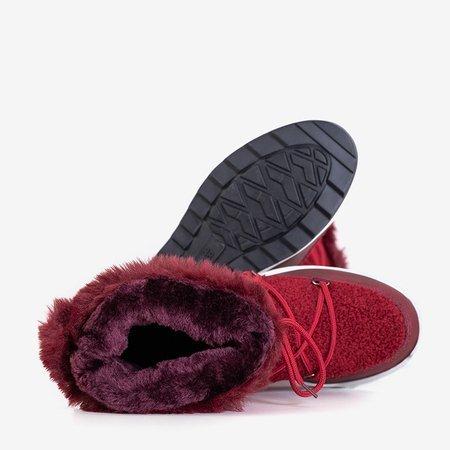Жіночі темно-бордові утеплені чоботи Columbita - Взуття