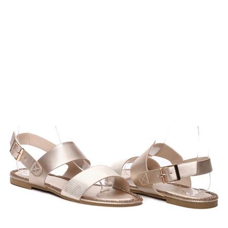 Złote sandały - Obuwie