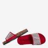 Дитячі червоні тапочки з цирконієм Procopia - Взуття