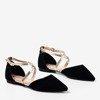 Жіночі чорні балерини на плоских підборах Vosia - Взуття