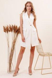 Кремове плаття - накидка без рукавів - Одяг