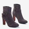 Сірі жіночі черевики на високій посаді Lilli - Взуття