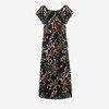 Чорне плаття з квітковим принтом - Одяг 1