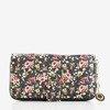 Чорно-червоний жіночий гаманець з квітами - Гаманець