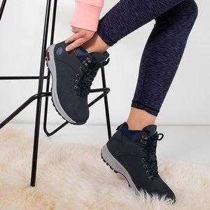 Темно-сині утеплені жіночі черевики Emeralda - Взуття